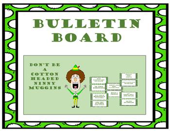 Christmas Bulletin Board Elf - classroom/office