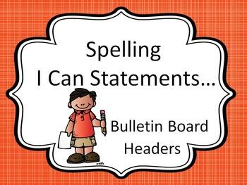 Bulletin Board Headers for Spelling