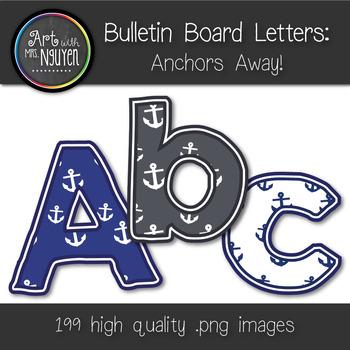 Bulletin Board Letters: Anchors Away! (Classroom Decor)