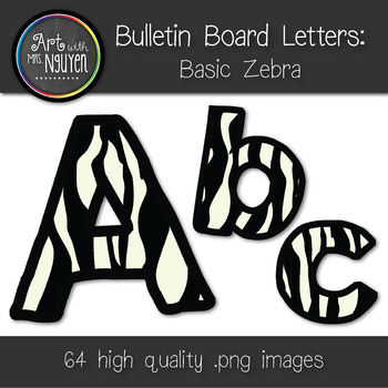 Bulletin Board Letters: Basic Zebra Print (Classroom Decor)