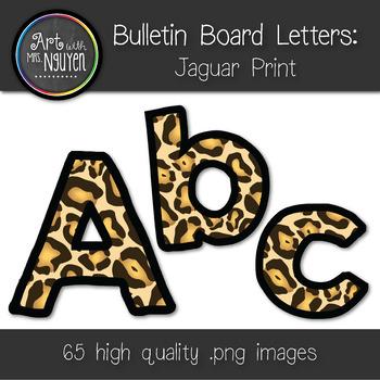 Bulletin Board Letters: Jaguar/Leopard Print (Classroom Decor)