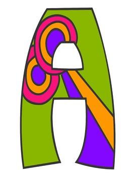 Bulletin Board Letters, Clip Art, Full Sheet Sized Letters