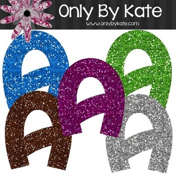 Bulletin Board Letters, Glitter Set 1
