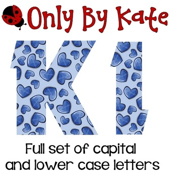 Bulletin Board Letters, Hearts So Blue, Valentine's Day, P