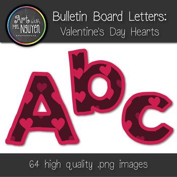 Bulletin Board Letters: Valentine's Day Hearts (Classroom Decor)