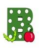 Bulletin Board Letters & Word Wall Letters Green Polka Dot