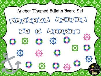 Bulletin Board Set: Anchors Aweigh Back To School Board