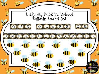 Bulletin Board Set: Bee Theme Back To School Bulletin Board Set