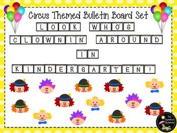 Bulletin Board Set: Circus Back To School Board