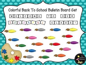 Bulletin Board Set: Paint Brush Back To School Board