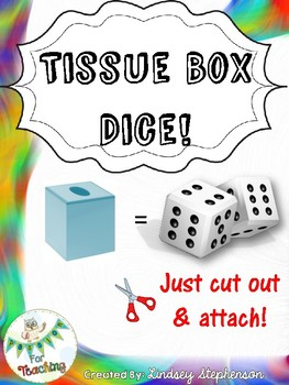 Tissue Box Dice (Square Kleenex Box)