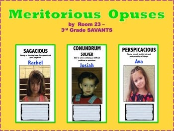 Bulletin Board that increases Vocabulary, Reading Comprehe
