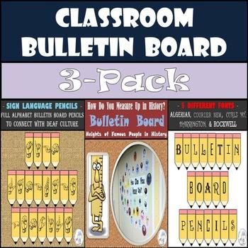 Bulletin Boards: Alphabet & Sign Language Pencils & How Do
