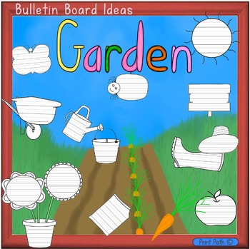 Bulletin Board & Writing Center Paper: Garden Theme