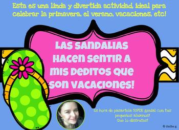 Bulletin board FUN activity ESPAÑOL! for Spring/Summer