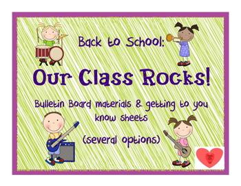 Bulletin board: Our class rocks