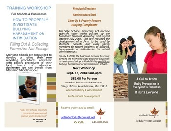 "Bully Prevention ""How to Investigate Complaints"" Workshop"