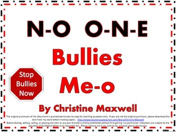 Bully Free Song No One Bullies Me-o Song and Posters