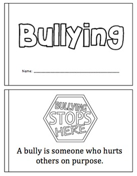 Bullying Mini Book