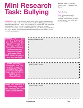 Bullying: Mini Research Project (Informative Essay)