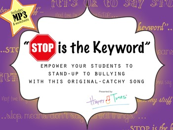 "Bullying Song MP3 ""Stop is the Keyword"" lyrics and activit"