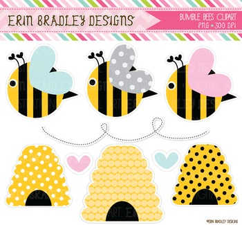 Bumble Bee Clipart Graphics