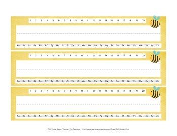 Bumble Bee Name Tags - FREE