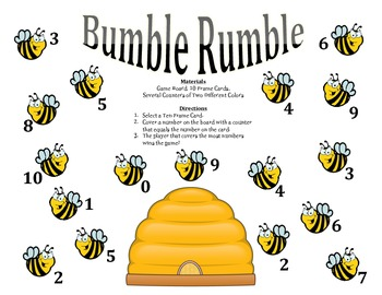 Bumble Rumble - A 2-Player Game to Identify Numbers using