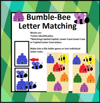 Preschool Bumblebee Letter Matching