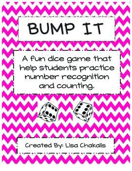 Bump It Math Center Game - Chevron