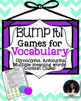 Bump It! Game for Vocabulary: Synoynms, Antoymns, Multiple
