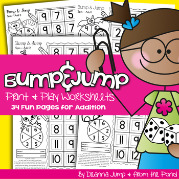 Bump & Jump Addition Fun!  {Print & Play Differentiated Ma