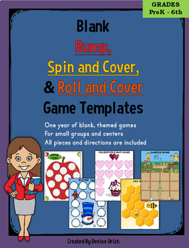 Bump, Spin and Cover, Roll and Cover Centers- Blank, Theme