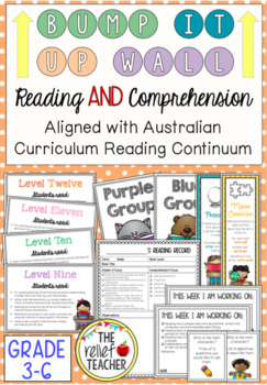 Bump it Up Wall *Grade 3-6 Reading Bundle* Aligned with Au