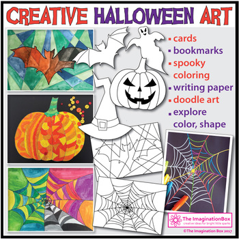 Halloween Art Activities 40 page bumper pack with cards an
