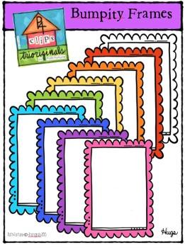 Bumpity Frames (P4 Clips Trioriginals Digital Clip Art)