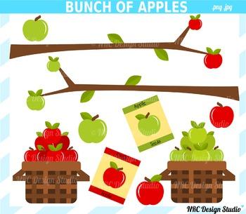 Bunch of Apples Clip Art