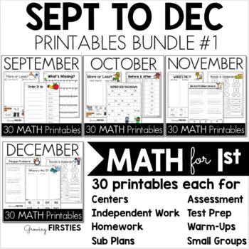 Bundle 1 - Common Core Crunch MATH September to December -
