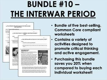 Bundle #10 - Interwar Period - Rise of Fascism - Global/Wo