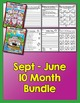 Bundle 10 Months - NO PREP Math & Literacy (Third)