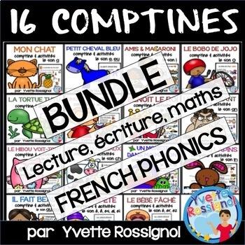 Bundle 13 comptines/activités (ateliers, littératie, Frenc