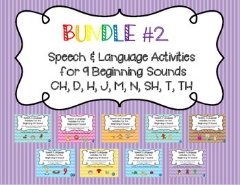 Bundle #2 - Articulation & Language Activities for CH, D,