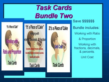 Bundle 2 Task Cards: Working with Fractions, Ratios, and U