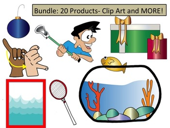Bundle: 400+ pieces/ Clip Art and MORE! *P B and J Clip Art*