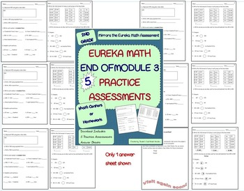 Bundle! 2nd Grade Eureka Math End of Unit Practice Assessm