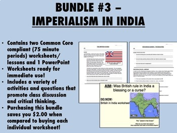 Bundle #3 - Imperialism in India - Gandhi - Global/World H