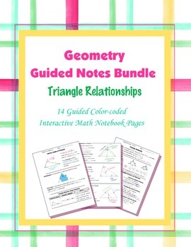 Geometry Guided Interactive Math Notebook Page (Bundle): T