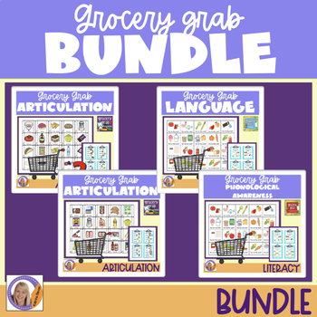 Bundle! 4 Grocery Grab Products- Articulation, Language &