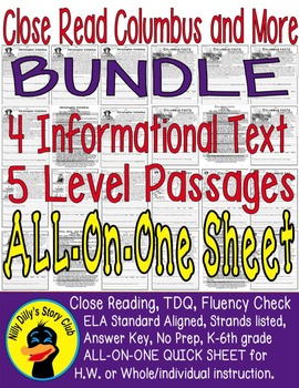 Bundle 5 Leveled Passages 4 Infomational Text: Christopher