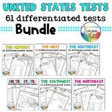 61 Differentiated USA Tests - States, Capitals, Abbreviati